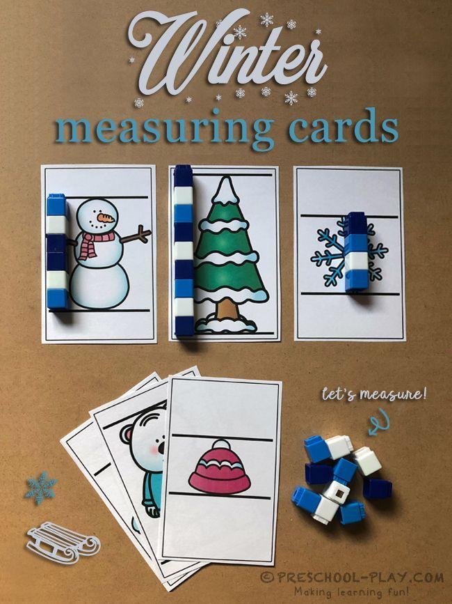 Winter Math and Literacy Activities | Preschool activities