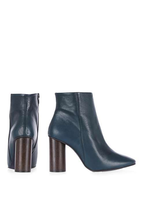 MARCH Wood Heel Boots - Topshop   Boots