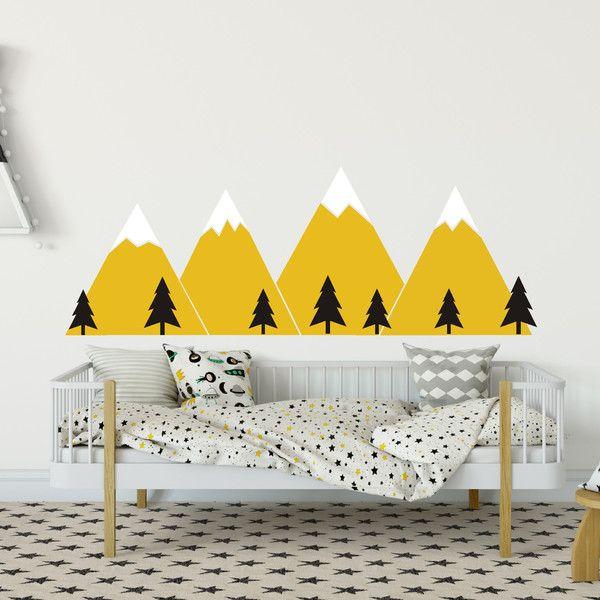 Kinderzimmerdekoration   Aufkleber Berge   Ein Designerstück Von  PracowniaMilosz Bei DaWanda