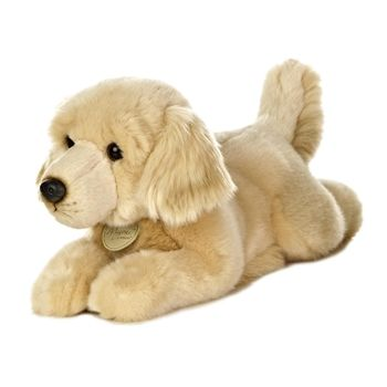 Realistic Stuffed Golden Retriever 11 Inch Plush Dog By Aurora
