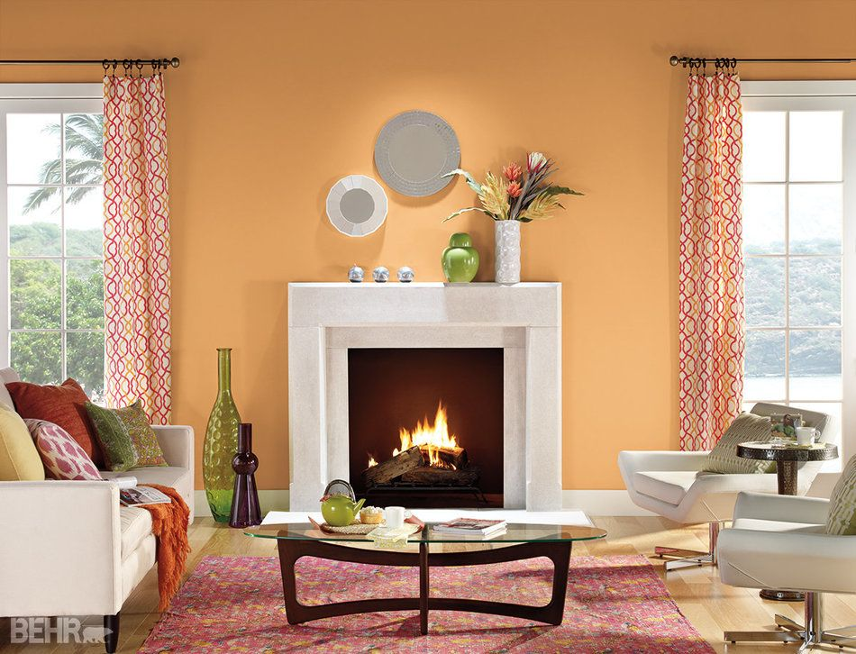 Experts Say This Is The Ugliest Color In The World Living Room Paint Color Ideas Orange Paint Colors For Living Room Living Room Orange
