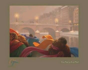 Une Nuit au Pont Neuf Claude Theberge Fine Art Print Poster