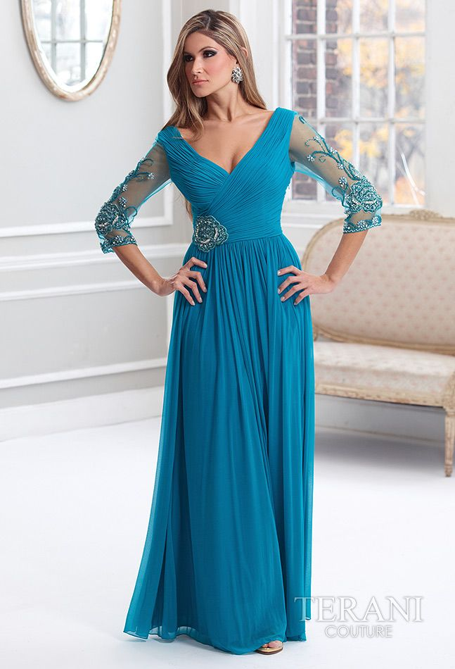 6fa9cb0c2d Terani Couture - Mother of the Bride Dress.  Peacock  Mother sDay   Celebstylewed.  Celebrity Style Weddings Other Dress  2dayslook  sasssjane   OtherDress ...