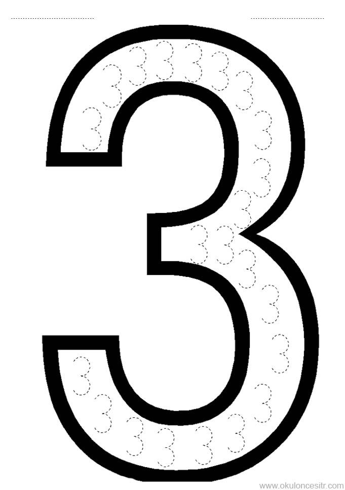 3 Sayisi Calisma Sayfasi Boyama Sayfalari Matematik Merkezleri