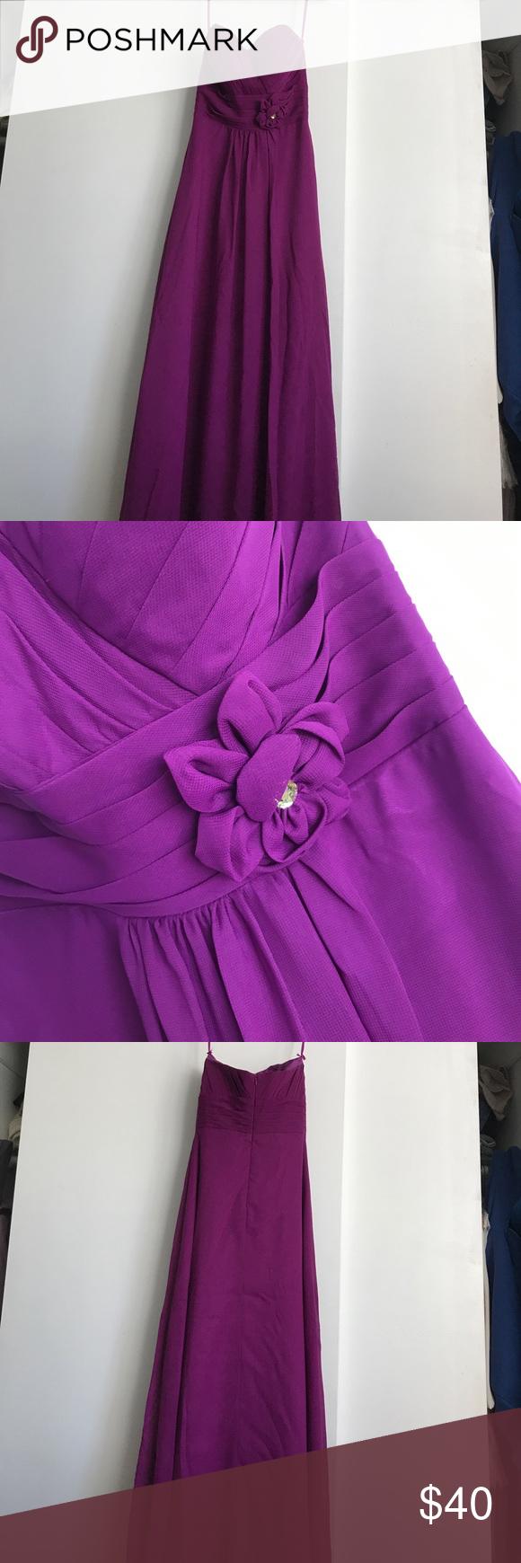 Purple long prom dress size