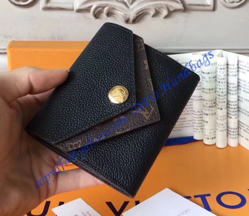 a4b98dbdf05 Louis Vuitton Double V Compact Wallet Black | LuxTime DFO Handbags ...