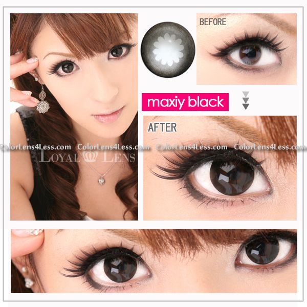 wx black color contact lens pair wx black 2499 colored contacts halloween contactscolor contact lenses and crazy contact lenses