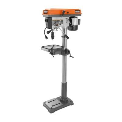 Ridgid 15 In Drill Press With Led R1500 The Home Depot Drill Press Drill Woodworking Outdoor Furniture