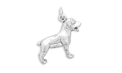 CorinnaMaria Sterling Silver Rottweiler Dog Charm 3d