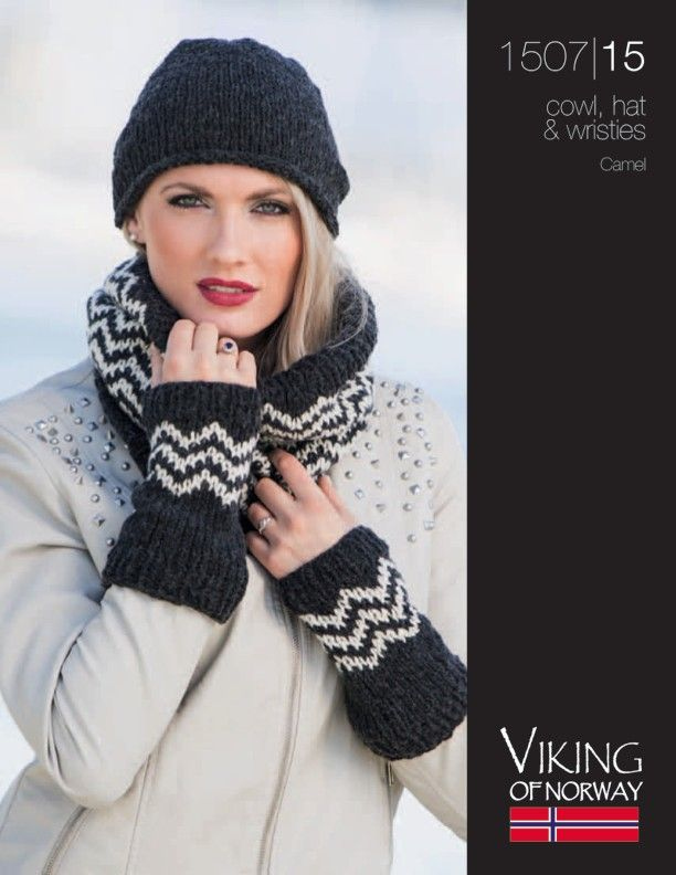 Chevron Cowl, Hat & Wristies Free Knitting Patterns | Knit Hats ...