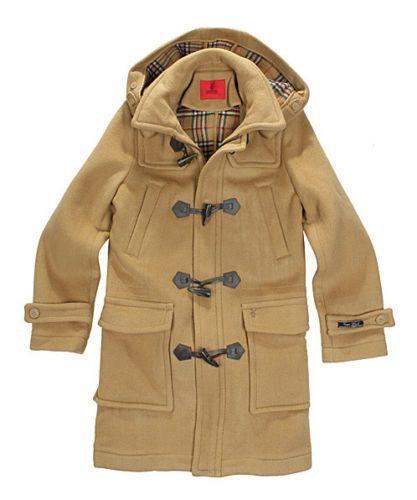 BRAND NEW MENS WOOL DUFFLE COAT HOODED VINTAGE WARM WINTER LONG PADDED JACKET