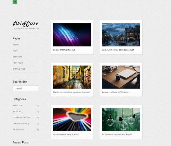 Briefcase portfolio based free WordPress theme | Blogging ...
