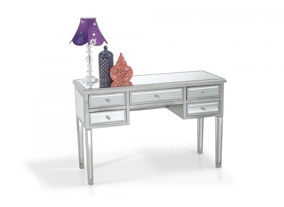 Amazing 5 Drawer Mirrored Desk   Home Accent Furniture   Bobu0027s Discount Furniture