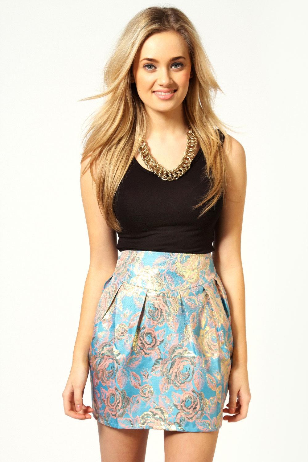 #boohoo                   #Skirt                    #Sofia #Brocade #Pastel #Colours #Lampshade #Skirt  Sofia Brocade Pastel Colours Lampshade Skirt                                  http://www.seapai.com/product.aspx?PID=426974