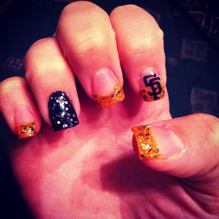 SF Giants Nails - Bing images | Sports Nail Art | Pinterest | Sf ...