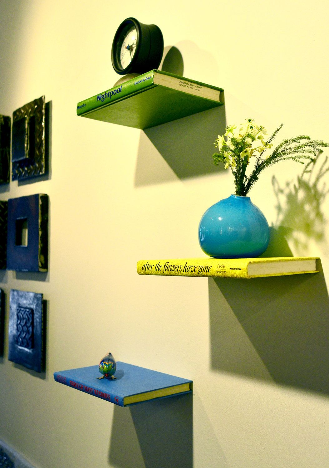 Floating Shelf made from a Book | Design | Pinterest | Shelves ...