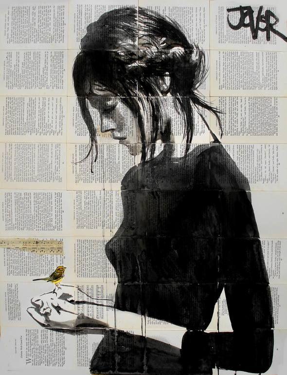 "Saatchi Art Artist: Loui Jover; Pen and Ink 2013 Drawing ""peace"