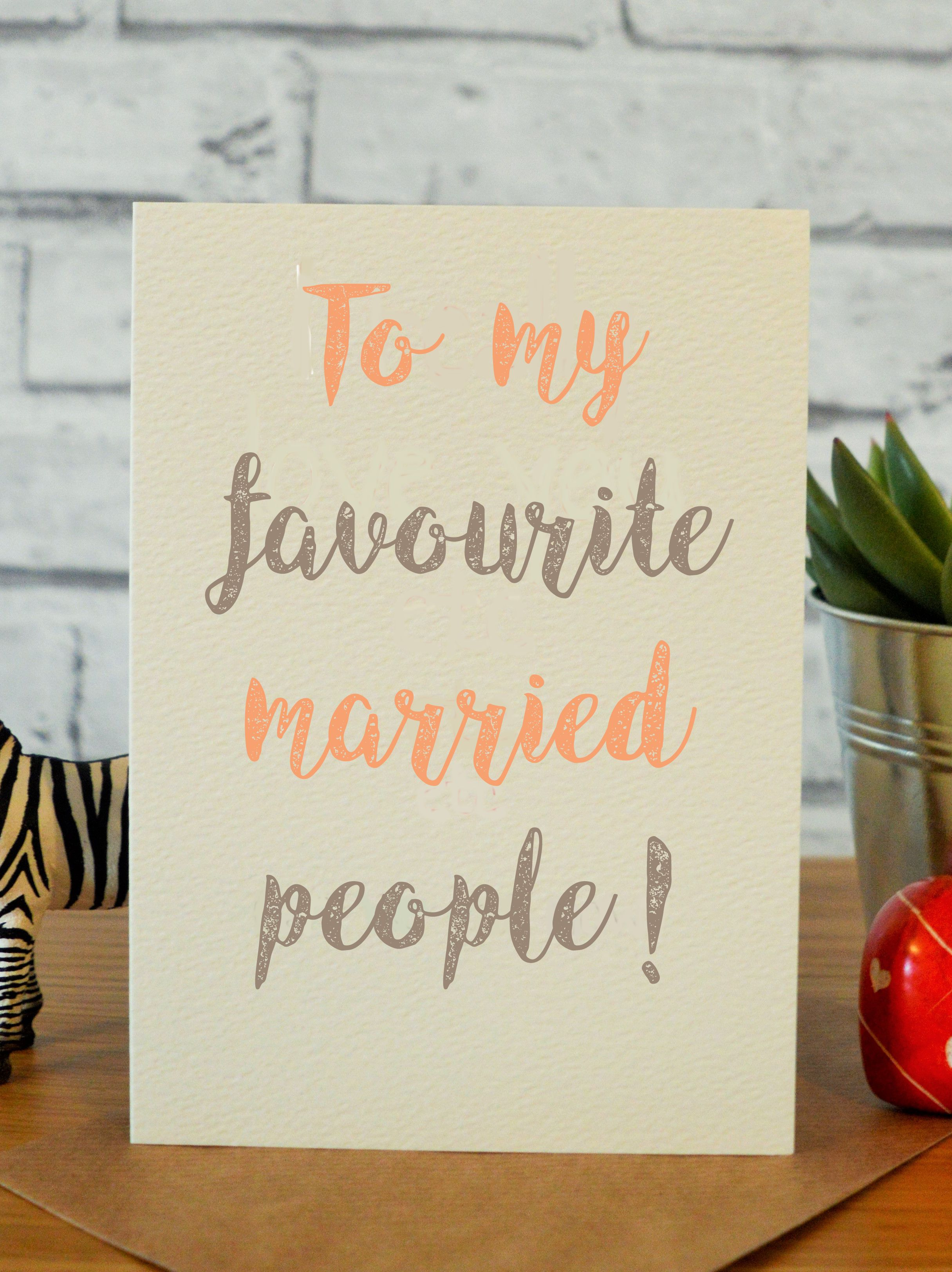 Favourite Married People Funny Wedding Cards Wedding