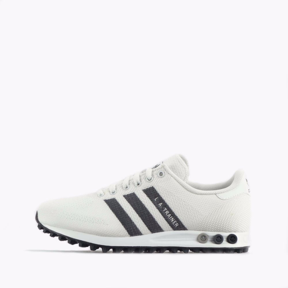 reputable site 19535 e8196 adidas Originals LA Trainer Weave Men s Shoes White Black