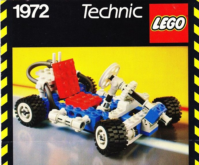 1972-1: Go-Kart   Go kart, Lego technic, Vintage lego