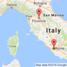 Final Car Driving Map Rome Umbria Tuscany To Florence Italy