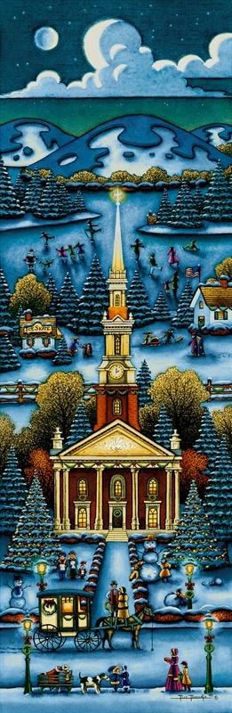 New England Winter Church (Eric Dowdle) American folk