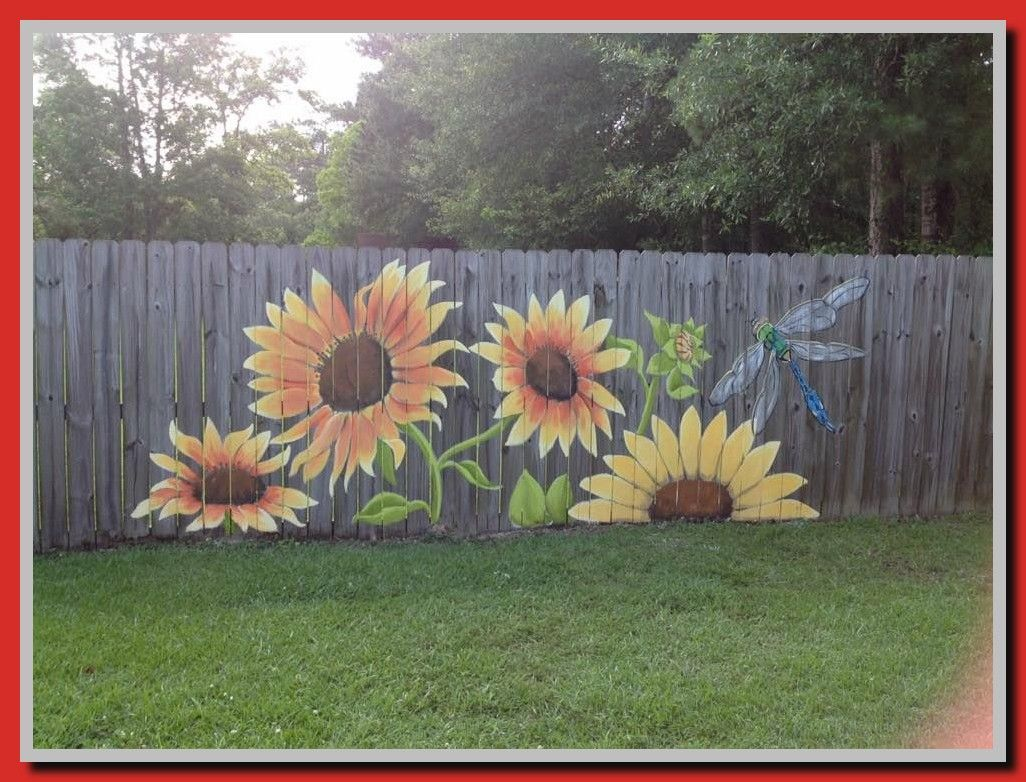 85 Reference Of Fence Painting Decorative Garden Design Ideas On A Budget Garden Design Fence Art