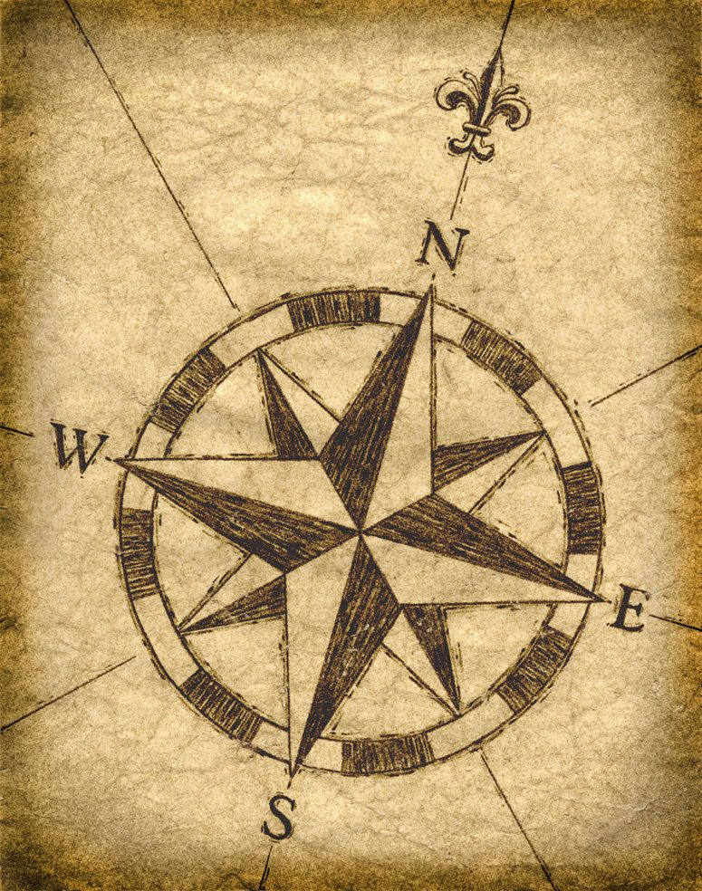 Compass Rose Artwork 11 x 14, Old Maps, Treasure Maps ...