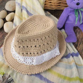 fedora hat crochet pattern free - Buscar con Google | Crochet ...