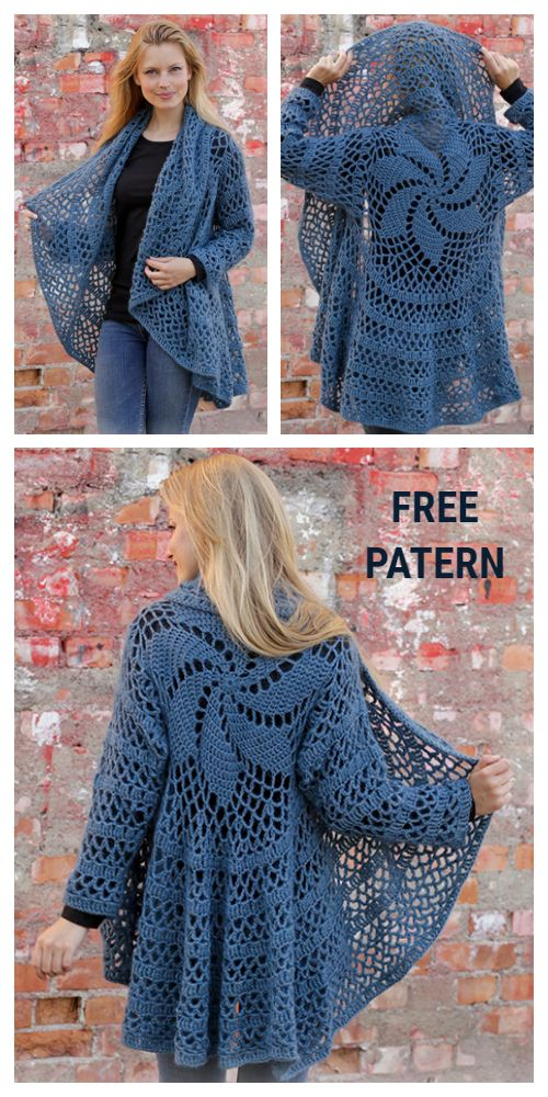 DIY Fall Festive Crochet Circle Jacket Free Pattern