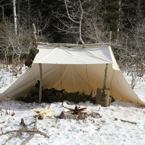 Shelter Tent Mining : Best tent ever the whelen i made mine out of tyvek