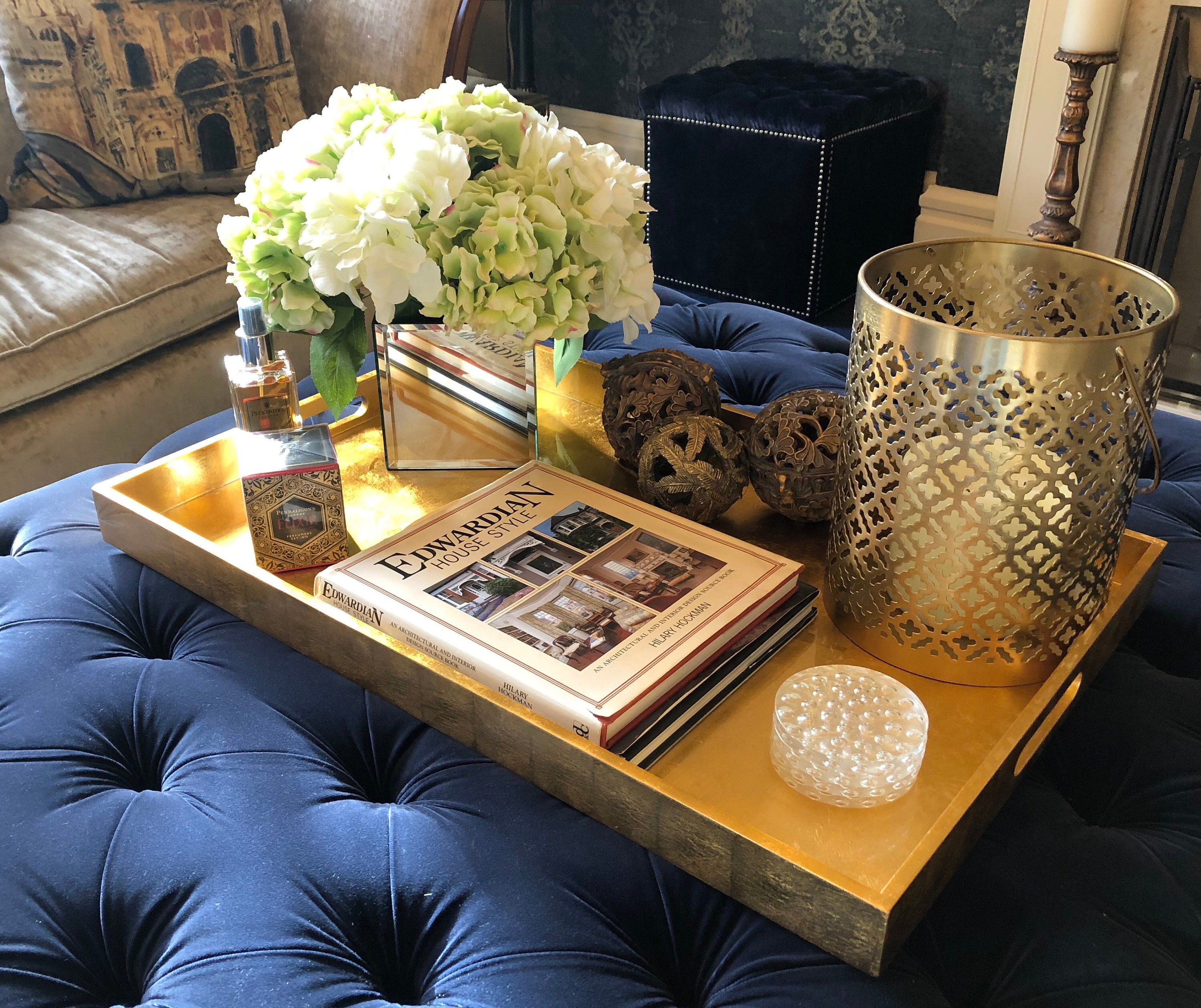 Excited To Share This Item From My Etsy Shop Large Gold Black White Lacquered Handcrafted R Coffee Table Decor Tray Coffee Table Styling Tray Gold Tray Decor [ 2518 x 3000 Pixel ]