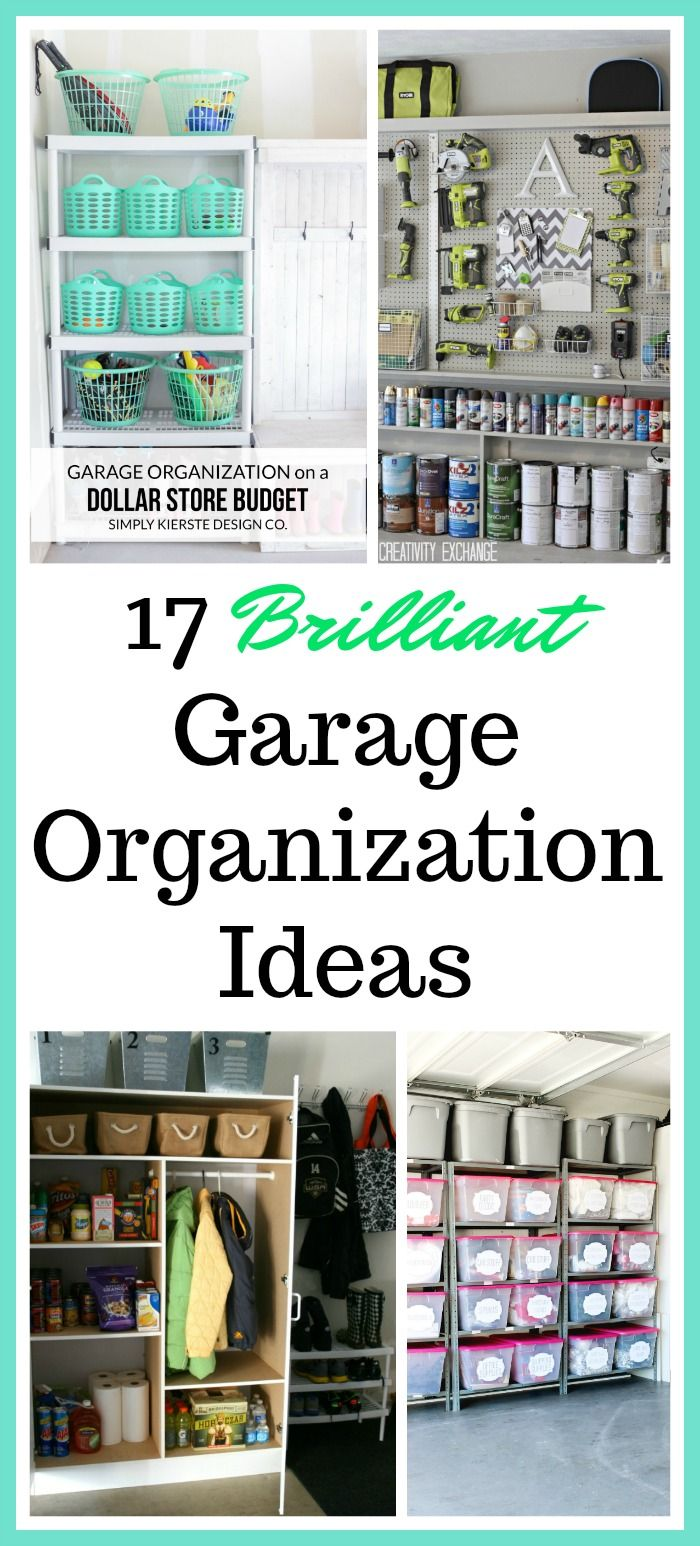 17 Brilliant Garage Organization Ideas Get Your Garage In Shape With These Awesome Garage O Storage Bins Organization Garage Storage Bins Garage Organization