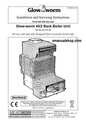 Glow Worm 45/2 Back Boiler Unit Service Manual Download   Service ...