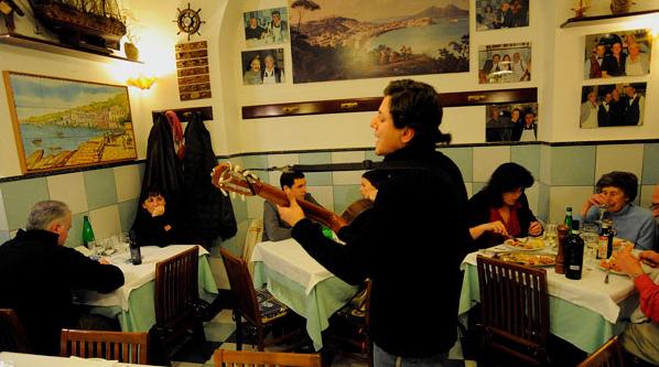 Un ristorante di Napoli