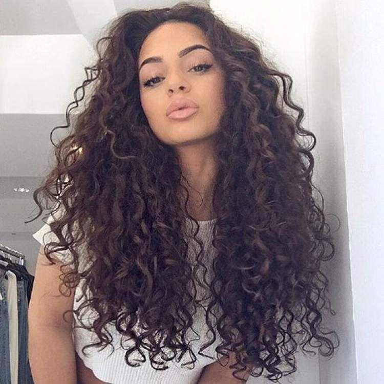 Cortes de cabello chino largo para mujeres
