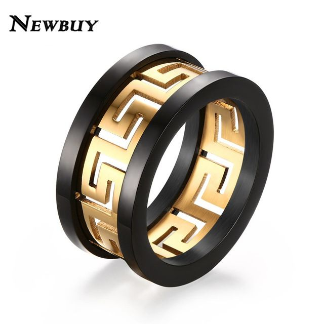 Special offer NEWBUY 2017 New Hot Sale Men's Ring Gold-color Hollow Out Design High Quality Stainless Steel Men Jewelry Party Ring just only $5.00 with free shipping worldwide  #weddingengagementjewelry Plese click on picture to see our special price for you