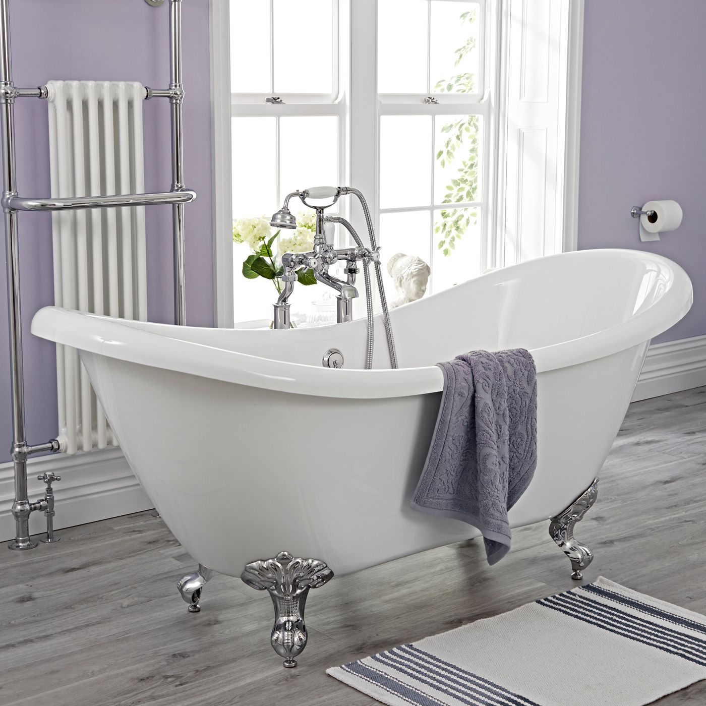 individuelle zusammenstellung mit freistehende badewanne mit füßen, Hause ideen