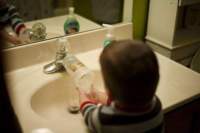 DIY faucet extender, for my newly potty trained boy. Clean hands ...