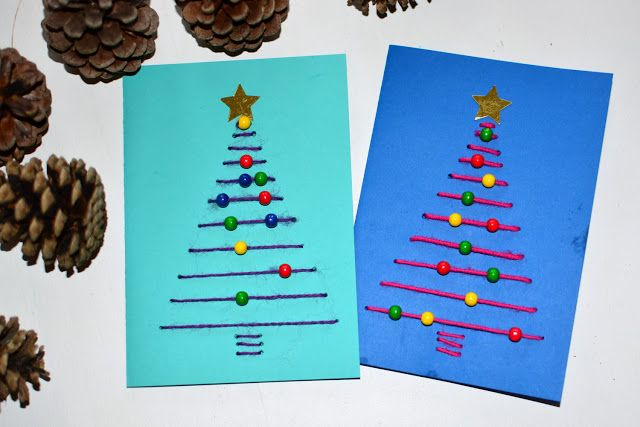 weihnachtskarten basteln mit kleinkindern und kindern. Black Bedroom Furniture Sets. Home Design Ideas