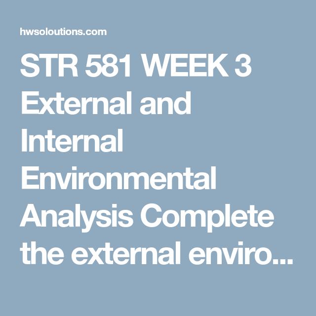 environmental scanning internal and external