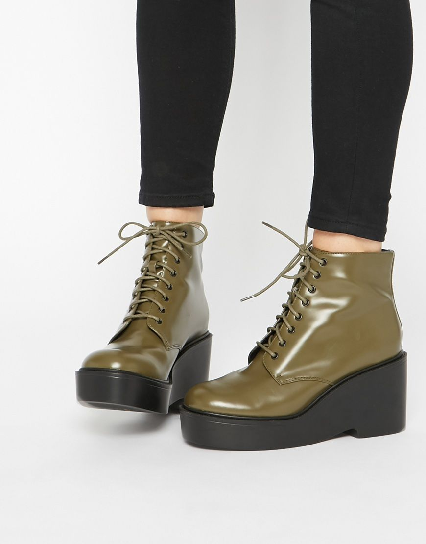 Buy Women Shoes / Asos Eclipse Lace Up Ankle Boots