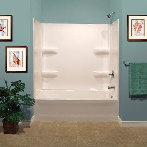 Lyons Elite™ Corner Shelf 3 Piece Bathtub Wall Kit At Menards®