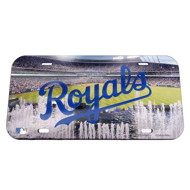 Kansas City Royals License Plate - Crystal Mirror - Stadium