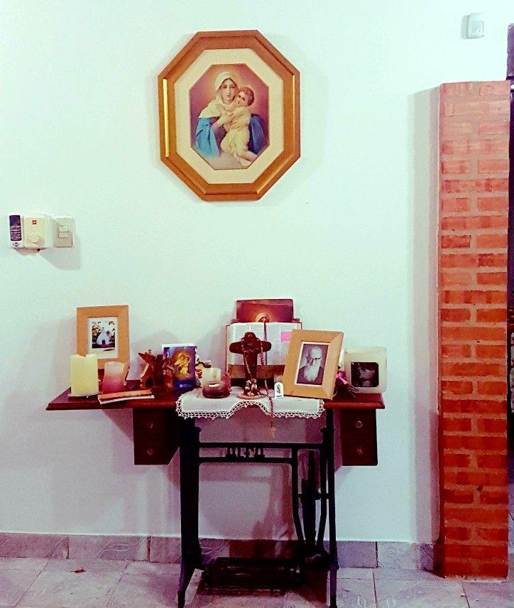 Santuario Hogar Schoenstatt Maquina De Coser Restaurada Casa Sonia