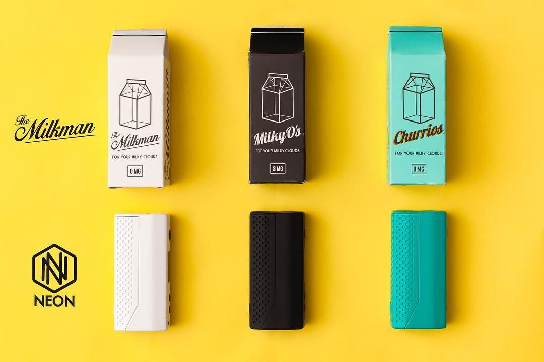 #MilkmanMonday #Flatlay #Neon #NeonBoxMod  Available in store & online  Milkman - http://buff.ly/2fQsgVY Neon - http://buff.ly/2fQxcd7