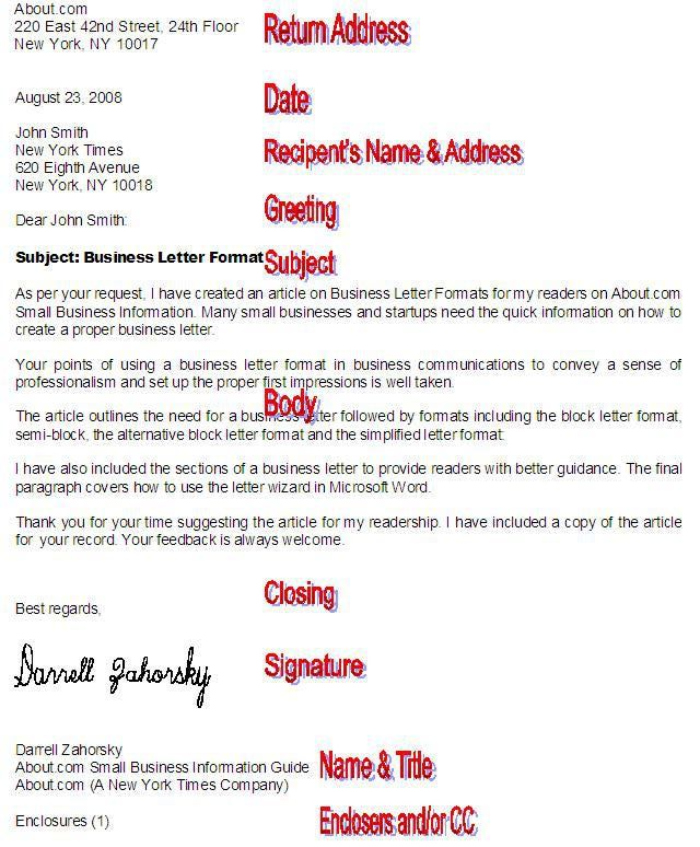 Format a Professional Business Letter with These Tips Business - standard business letters format
