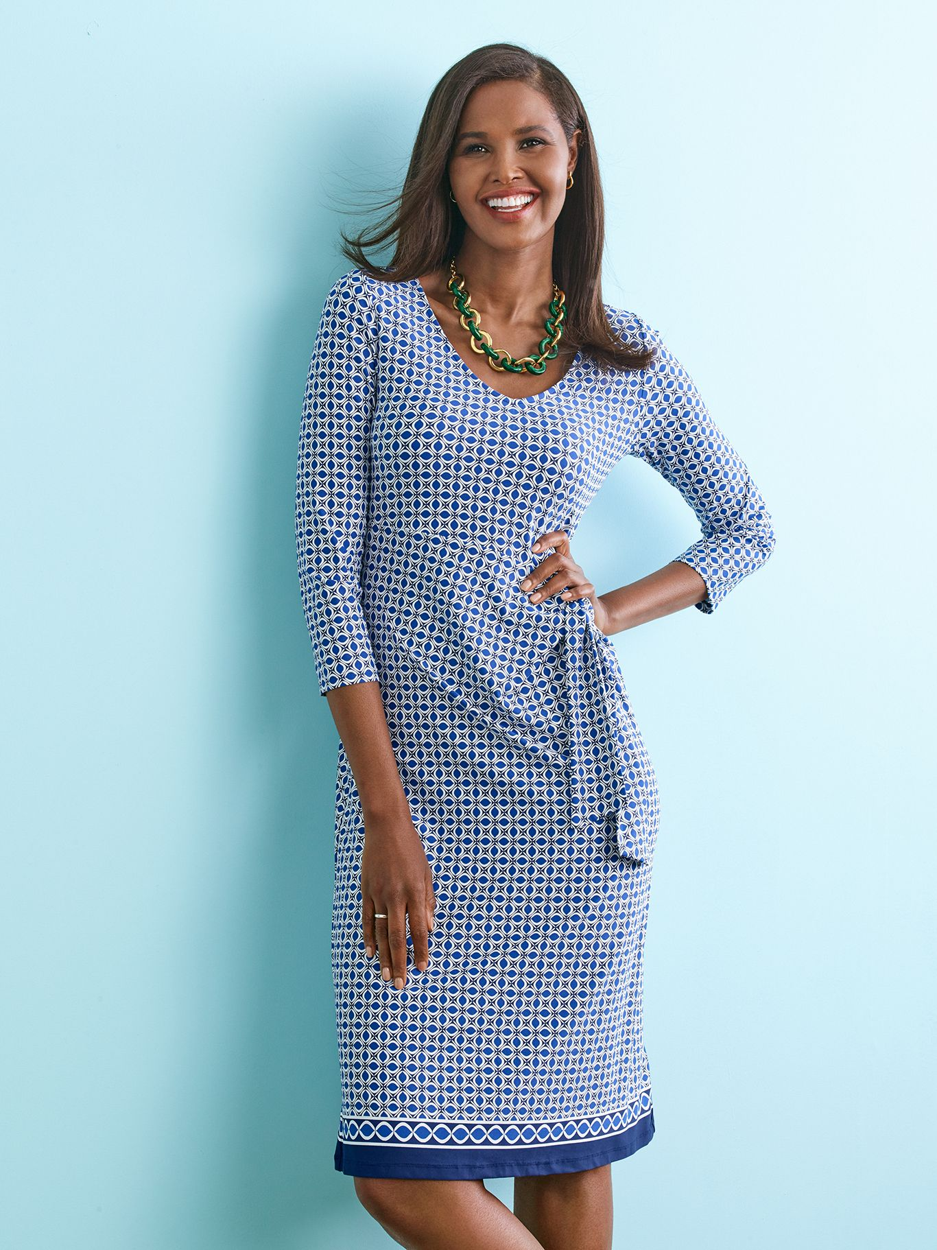Uncomplicated Pullover Dress Simply Made Just For You Talbots Wear To Work Casual Work Dresses Shift Dress Talbots Fashion [ 1822 x 1366 Pixel ]