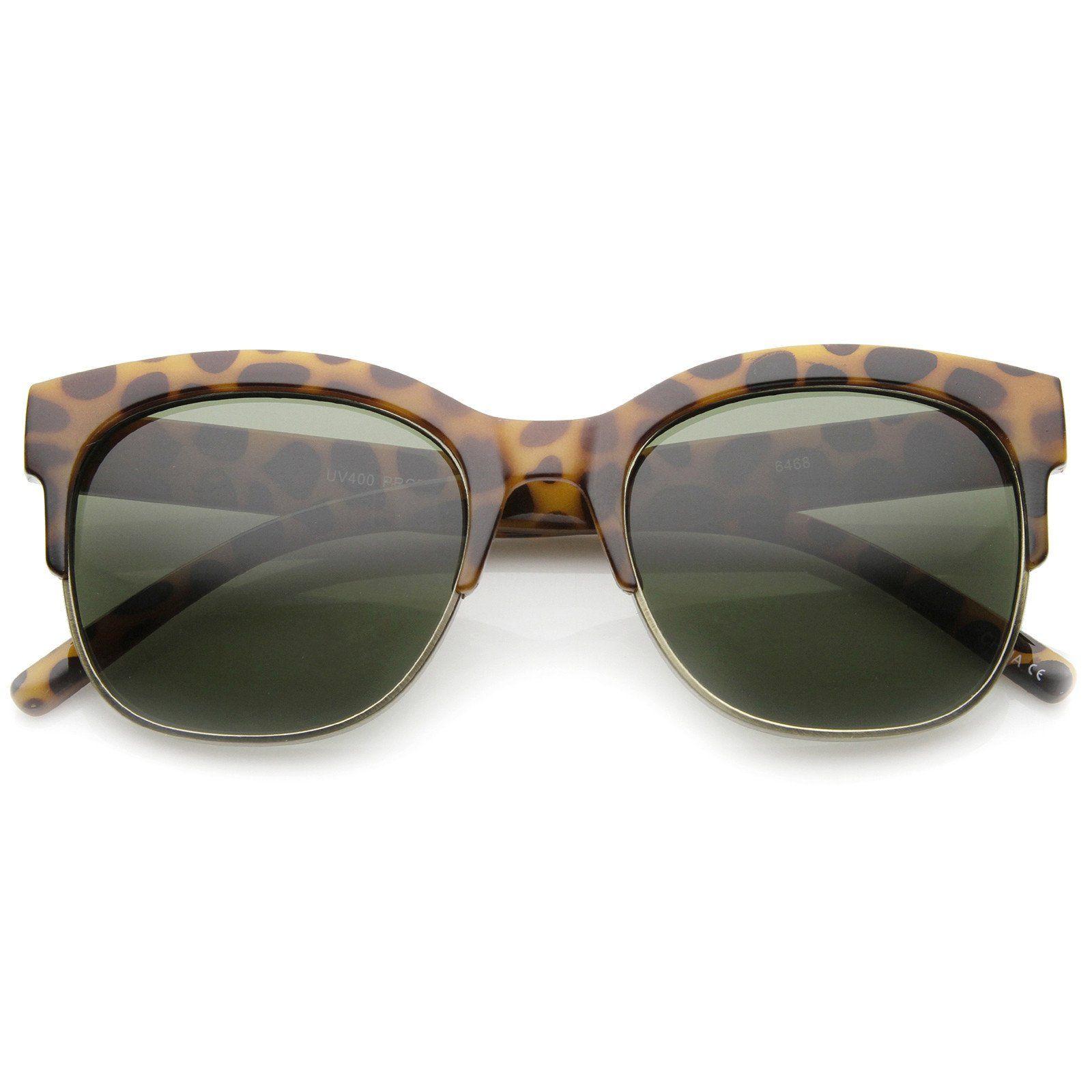 88cbfeff4f Womens Semi-Rimless Sunglasses With UV400 Protected Composite Lens ...
