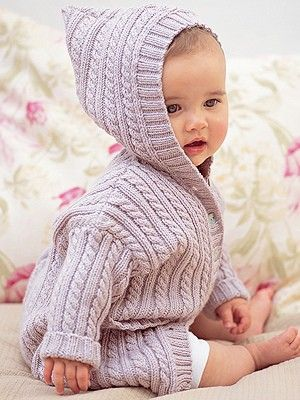 Cabled Coat With Hood Bebes Pinterest Hoods Cable And Yarns